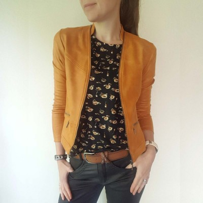 Maise Coated Jacket (Cognac) - One Two