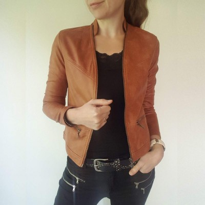 Maise Coated Jacket (Rosewood) - One Two