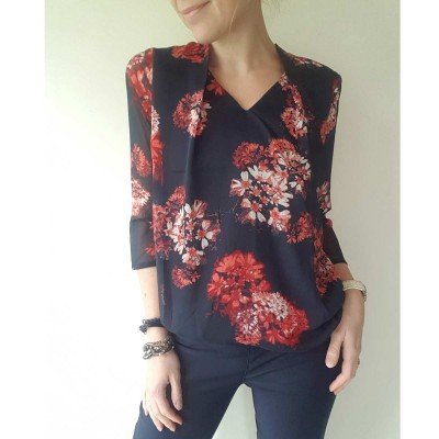 Red Flower Blouse - Signature