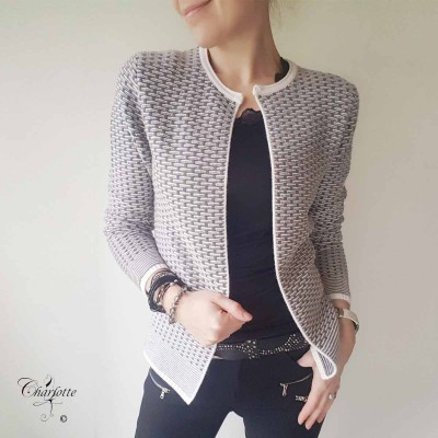 Grey Knit Jacket - Marinello