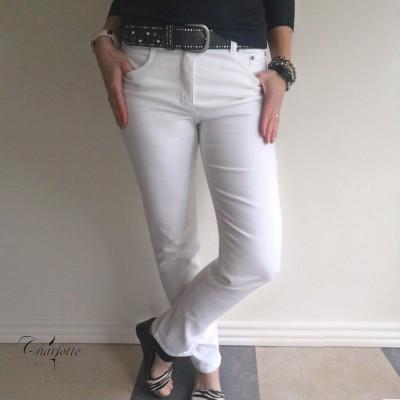 Monika cowboybuks (hvid)