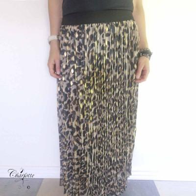 Animal Print Skirt - Luizacco