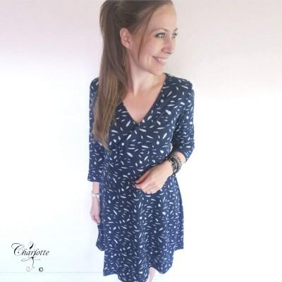 Navy Dress - Sara Louise