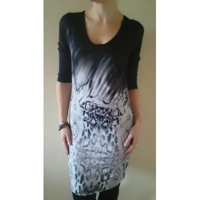 Kjole med drapering - FreeQuent