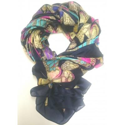 Sommerfugle Silke Tørklæde