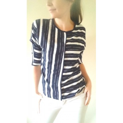 Blue Stripe Blouse - Sara Louise