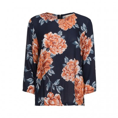Coral Flower Blouse - One Two
